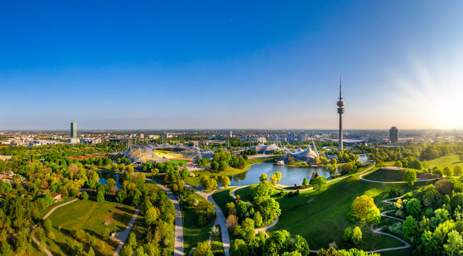 Olympic Park in Munich, Bavaria, Germany