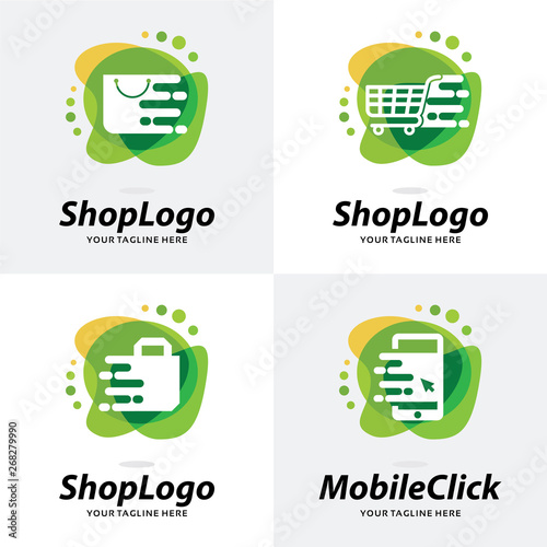 Collection of Online Shop Logo Template Design Template