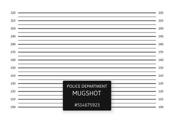 Police lineup or mugshot background. Vector illustration
