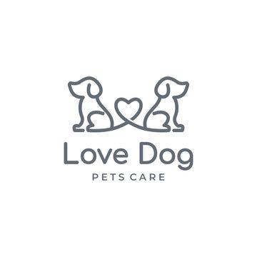 Dog Pet Logo Design Template