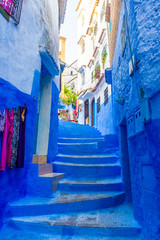 Foto op Canvas Marokko Blue streets of Chefchaouen, Morocco