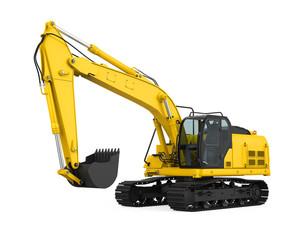 Excavator Isolated