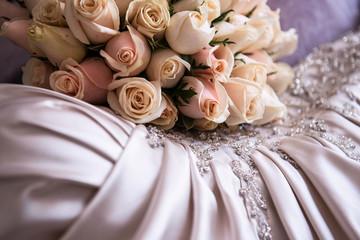 Fresh colourful Wedding flowers, bridal bouquet