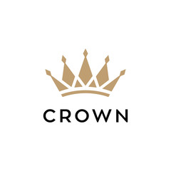crown concept vector logo design