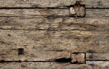 Aged weathered wood texture Wall mural