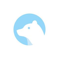 bear head vector logo design