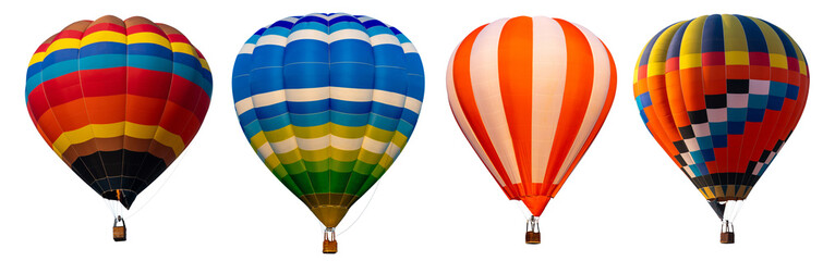 Papiers peints Montgolfière / Dirigeable Isolated photo of hot air balloon isolated on white background.