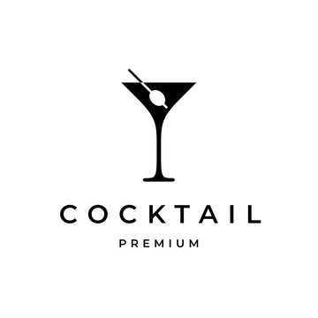 Cocktail Logo Design Template