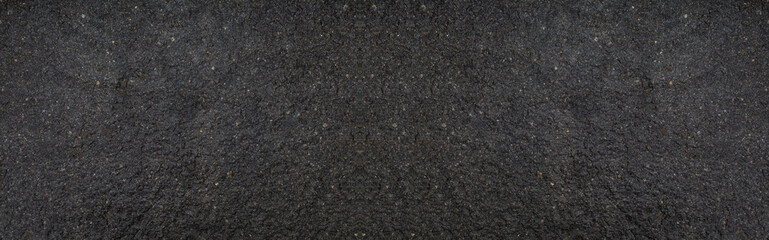 Panorama of Black stone texture and background