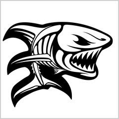 Fish skeleton on white. Vector illustration