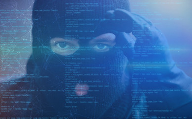 Hacker mit Spyware als Cybercrime Konzept - fototapety na wymiar
