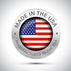 Fototapeta made in america flag metal icon  obraz