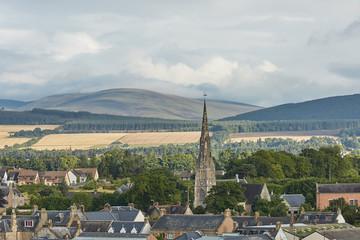View of a Free Church in city of Invergordon in Higland, Scotland, UK.
