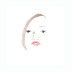 魅力的な女性の顔