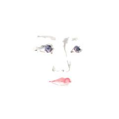 女性の横顔、素材