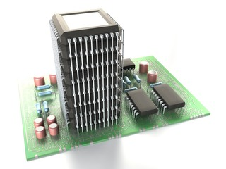 Multiprocessor system • CPU tower • Motherboard