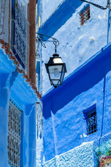 Wall Mural - Street in the blue city of Chefchaouen in Morocco