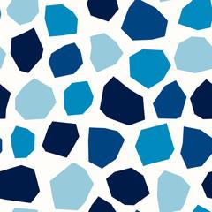 Fototapete - Polygonal Shapes Geometric Seamless Pattern