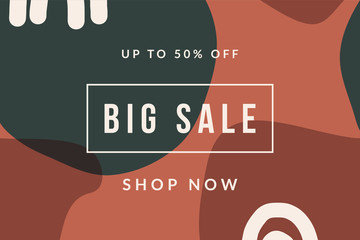 Abstract Shapes Sale Banner Design