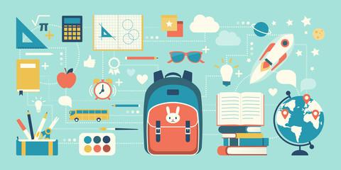 Back to school and childhood - fototapety na wymiar