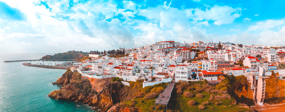giant panorama about albufeira at portugal