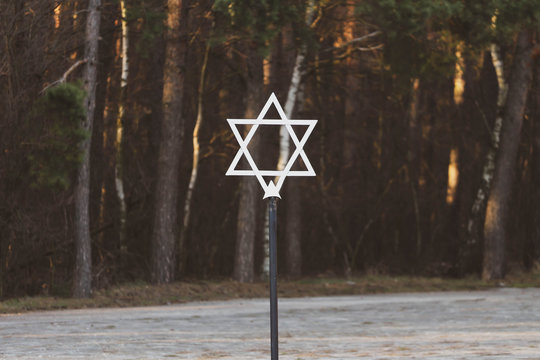Jewish Star of David at the Museum of the Former German Nazi Kulmhof Death Camp in Chelmno on Ner, Poland