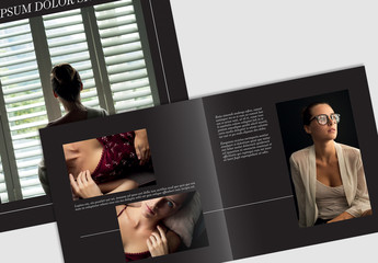Elegant Dark Photobook Layout