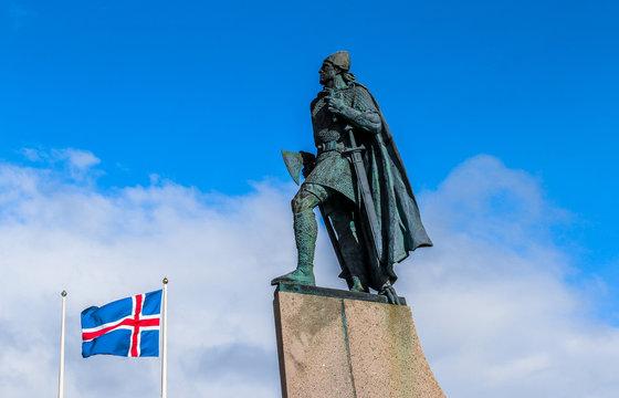 Statue of explorer Leif Erikson. Reykjavik, Iceland