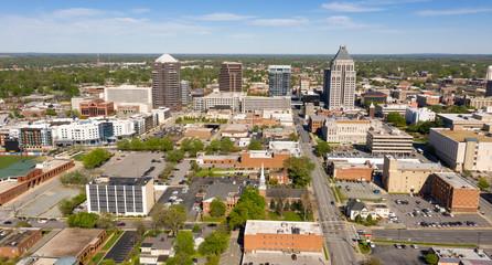 Greensboro North Carolina Downtown City Skyline Urban Core Wall mural