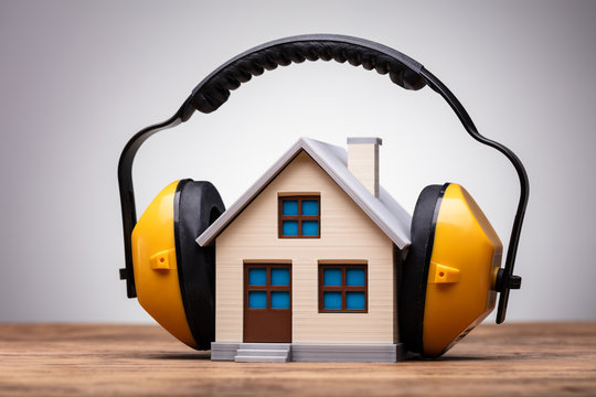 Working Protective Headphone On The House Model