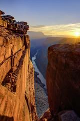 In de dag Bruin Grand Canyon North Rim