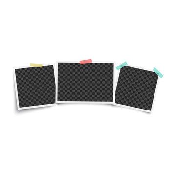 Set of three vintage blank photo frames