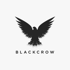 Flying crow logo icon design