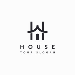 H logo for house icon inspiration