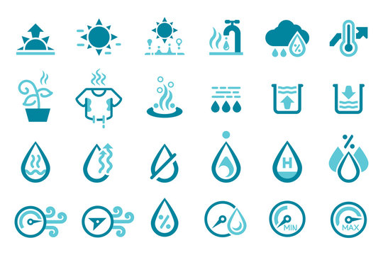 Humidity weather icon. The air that makes breathing uncomfortable.