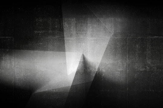 Architectural pattern, black concrete design