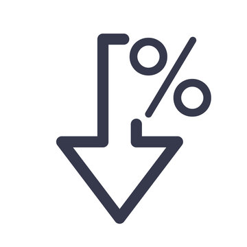 Percent down icon