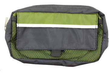 Side view of toiletry bag isolated