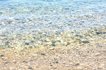 boulders under transparent waters