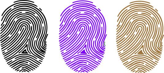 finger print icon on white background