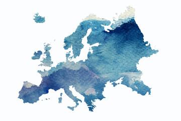 Fototapeta Europa - szkic kontynetu