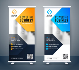 stylish company business roll up banner design