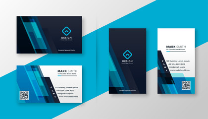 Obraz stylish blue elegant business card design - fototapety do salonu