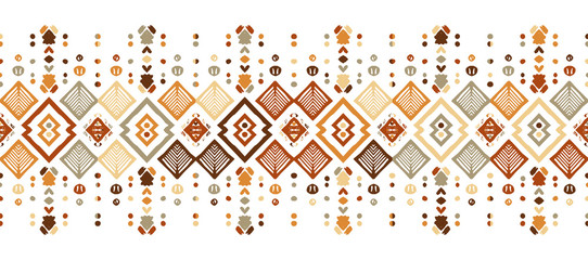 Papiers peints Style Boho Ikat seamless pattern. Tribal art print. Chevron