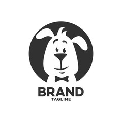 Modern pet clever dog logo