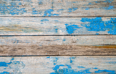 old wooden texture with blue paint Wall mural