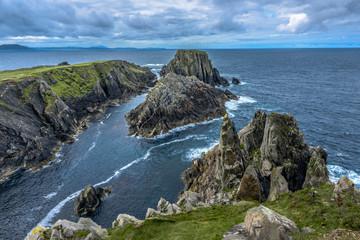 Rocks at Hell's Hole, Malin Head, Inishowen Peninsula, County Donegal, Ireland