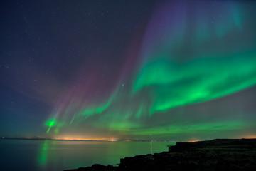 Wall Mural - Iceland aurora borealis