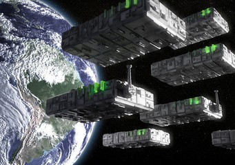 Technology invasion • Router armada • Modem formation