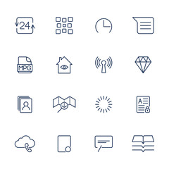 System User Interface UI Vector Icon Set. High Quality Minimal Lined Icons for All Purposes.